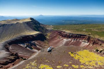 Tour en hélicoptère au Mt Tarawera...