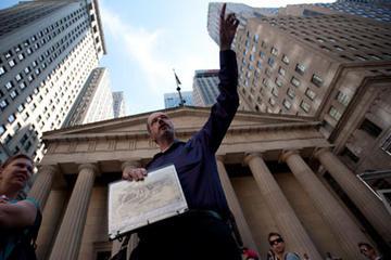 Excursão pela cidade de Nova York e a crise financeira de Wall Street
