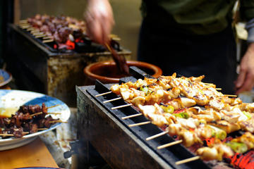 Kvällstur i Tokyo: japansk matrundtur