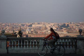Panoramische tocht per elektrische fiets door Rome