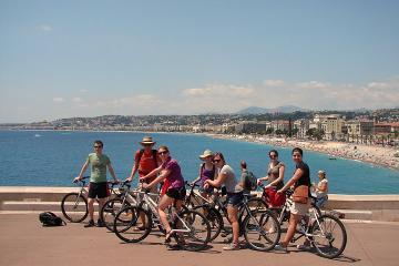 Circuit à vélo dans la ville de Nice