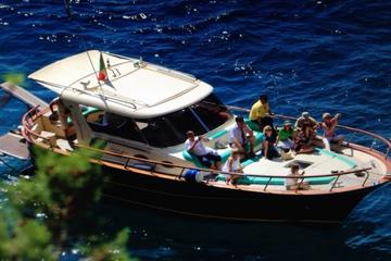 Capri & Sorrento Boat Experience Daily Tour with Limoncello Tasting From Portici
