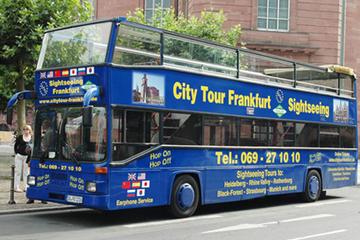 フランクフルトの街の乗り降り自由ツアー