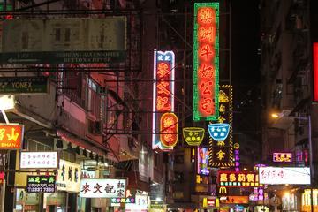Recorrido nocturno a pie en Hong Kong
