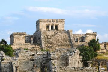Catamaran Cruise from Riviera Maya to Tulum Ruins with Lunch and...