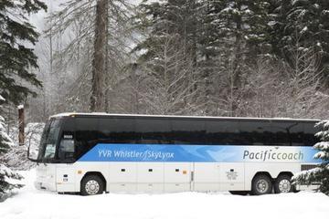 Im Reisebus von Vancouver International Airport nach Whistler