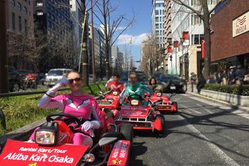 Osaka Go Kart Tour including Funny Costume Rental