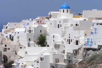 Excursão no litoral de Santorini: excursão privada em Oia e Fira...