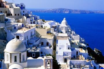 Excursão no litoral de Santorini: excursão privada panorâmica de...