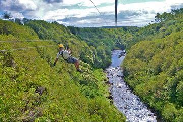 Combinado de aventura en Big Island: helicóptero, tirolina y lava