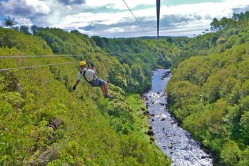Tirolesa pelo Paraíso: Percurso de Tirolesa Duplo Lado a Lado