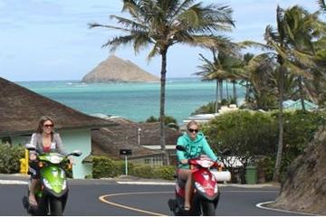 Aventura Independiente en scooter por Oahu
