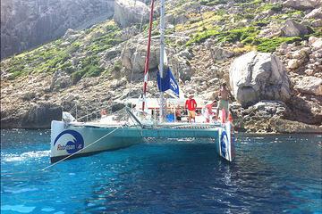 Viagem de Cruzeiro em Catamarã e Mergulho com Snorkel em Mallorca