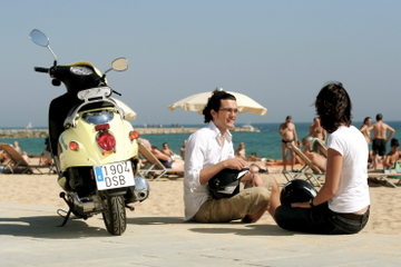 Barcelona-Küstentour mit dem Motorroller