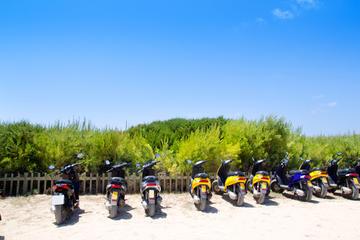 Tour di un giorno in scooter nella campagna di Ibiza con pranzo