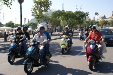 Visite historique de Palma en scooter