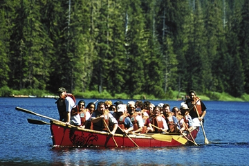 Recorrido en canoa por la selva...