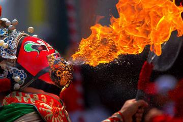 Sichuan kulturelle Vorstellung und Eintopf Abendessen in Chengdu