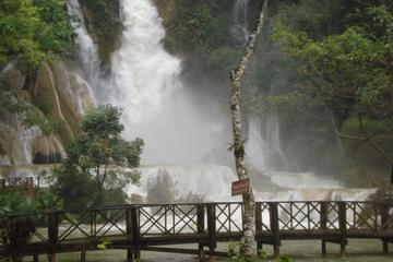 Slow Boat to Pak Ou cave - Villages and Kuangsi falls 1 day group tour