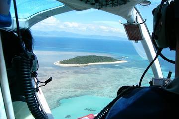 Excursión de un día a Green Island en helicóptero panorámico y crucero