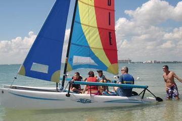 Aluguel de barco ou aula de catamarã em Biscayne Bay