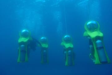 Excursion en bord de mer à Cozumel: sortie plongée en mini-sous-marin