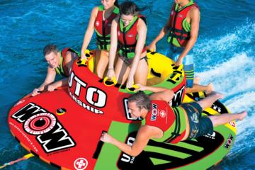 Day Trip WOW Adventure Tubing - UTO Starship 6 passenger tube near Kelowna, Canada