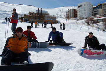 Learning to ski in La Parva