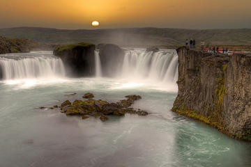 waterfalls of gods godafoss and myvatn Nature baths