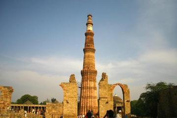 Cultural Trail Around Old Delhi Including Qutub Minar and Chattarpur...