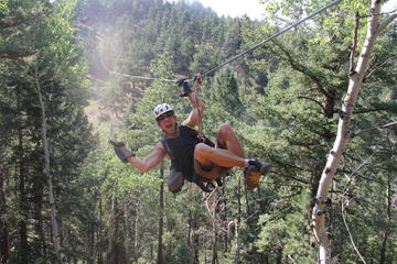 Day Trip Rocky Mountain Zipline Adventure near Denver, Colorado