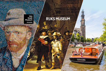 Skip the Line: Van Gogh Museum and Rijksmuseum Tour Including Amsterdam Canal Cruise and Lunch