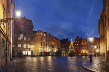 Excursão a pé no Natal por Estocolmo