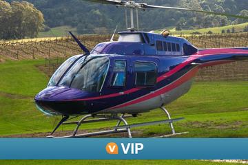 VIP da Viator: excursão de helicóptero com refeição e vinho das...