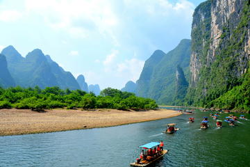 Guilin to Yangshuo Li River bamboo Cruise(official operator)