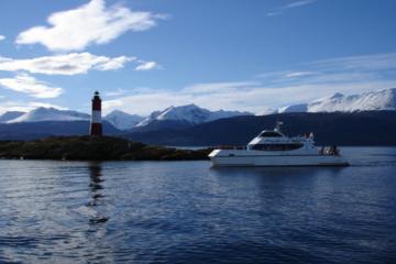 Croisière en catamaran dans le Canal de Beagle et à Sea Wolves