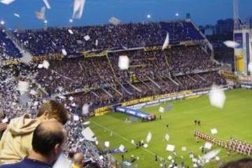 Tour des coulisses du stade de football de Buenos Aires