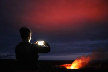 Waterfall and Hawaii Volcanoes...