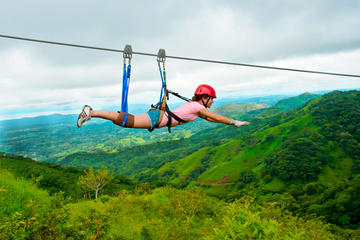 Puntarenas Shore Excursion: Superman Zipline Tour