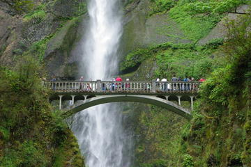 Day Trip Morning Half-Day Multnomah Falls and Columbia River Gorge Waterfalls Tour from Portland near Portland, Oregon