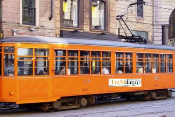 Circuit à Milan en tramway d'époque à arrêts multiples avec la carte...