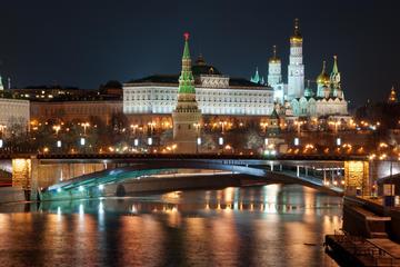 Moskau bei Nacht: Rundgang in einer kleinen Gruppe mit...
