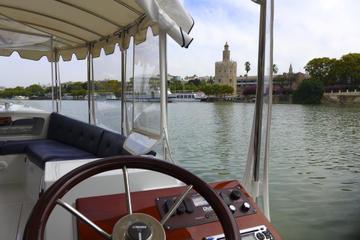 Recorrido nocturno a pie y crucero por el río en Sevilla