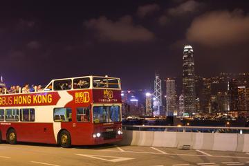 Recorrido nocturno en autobús Big Bus con techo descubierto en Hong...