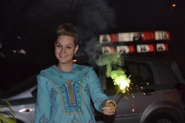Experimente o Diwali: comemore com uma família indiana local em Deli