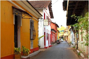Walking tour of the Latin Quarters including tile painting in Goa