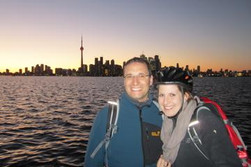 Visite en vélo des Îles de Toronto en soirée