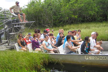Day Trip Florida Everglades Airboat Tour and Alligator Show from Fort Lauderdale near Fort Lauderdale, Florida