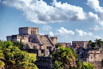 Private Combo Tour: Early Access to Tulum with an Archaeologist and Xel-Há or Xcaret from Tulum