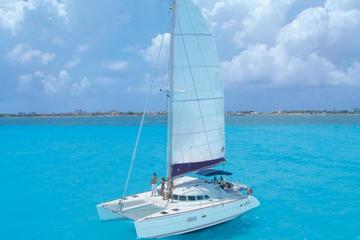 Super Saver Isla Mujeres All-Inclusive Catamaran Plus Xcaret Park